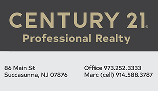 Company contact info for Century 21 Professional Realty in Succasunna, NJ